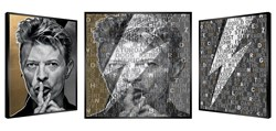 Golden Bowie by Patrick Rubinstein - Kinetic Original on Board sized 44x44 inches. Available from Whitewall Galleries